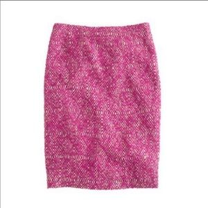 J.Crew No. 2 Pencil Skirt Corkscrew Pink Size 8